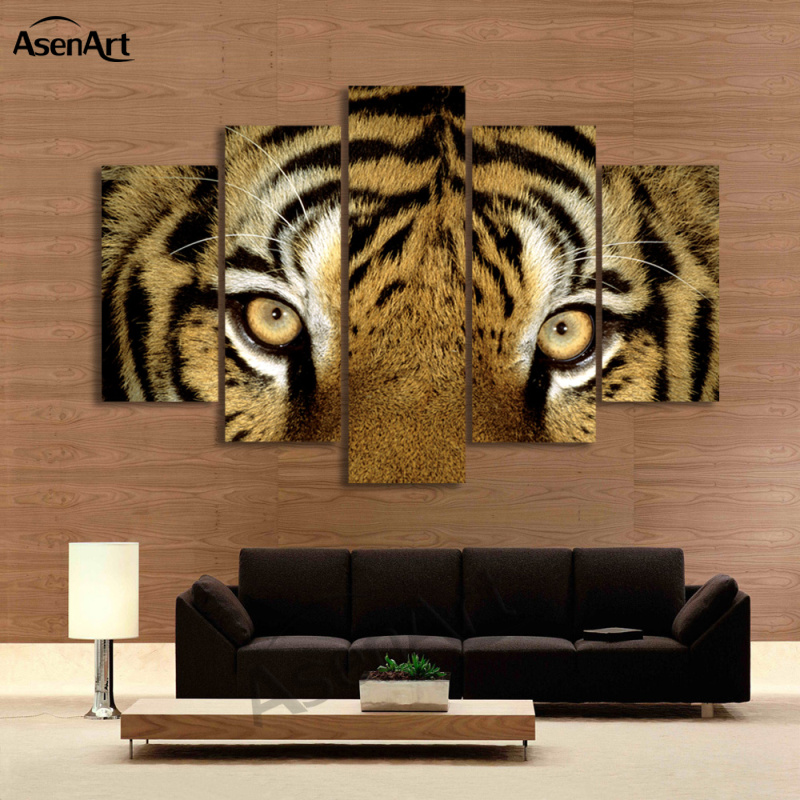 Wall Decor Big W : Piece wall art tiger picture animal painting modern