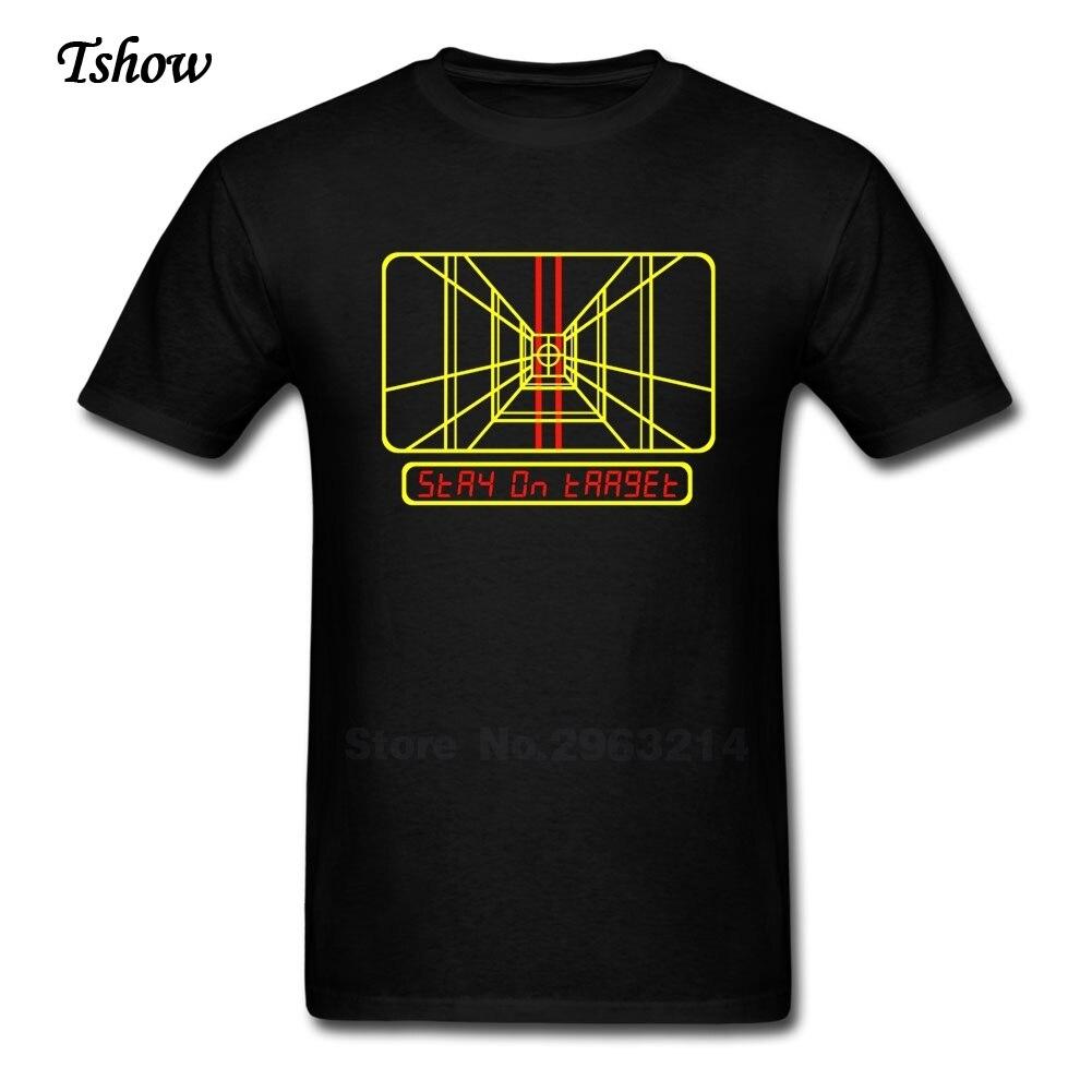 Black t shirt target - Stay On Target T Shirt Man Casual Summer Print Cotton Male Costume Round Neck Short Sleeve Fashion T Shirt Discount Boys Shirt
