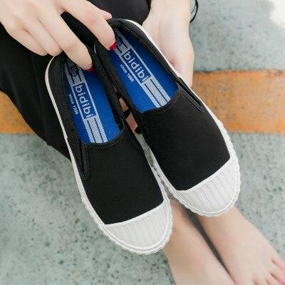 Nouveau 2 Pied La Blanc Un 2018 Dames Tissu Base Chaussures Toile 1 D'été En Sauvage Coréenne De Version Paresseux Nature q8TH11