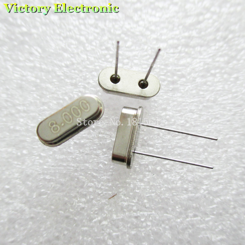 10PCS/Lot Crystal Oscillator Crystal Resonator 8MHz 8M 8.000MHz 8.000M 8.000 49S HC-49S DIP-2 Passive Crystal Quartz
