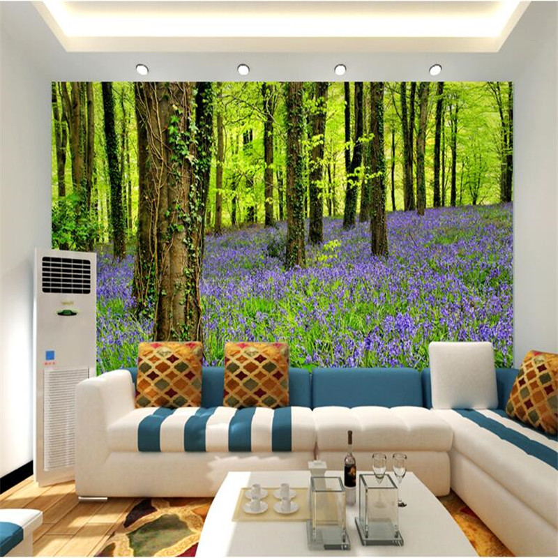 Custom photo wallpaper 3d stereo large murals forest Large living room plants