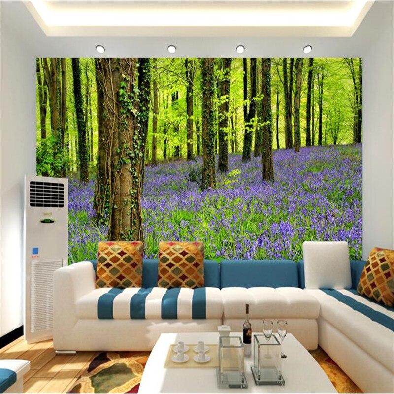 online kaufen großhandel wald wandmalereien aus china wald ... - Grose Wohnzimmer Pflanzen