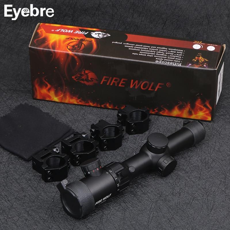 FIRE WOLF New 1-4X20 Riflescopes Rifle Scope Hunting Scope w/ Mounts free shipping 2017 new fire wolf 3 12x42 sf riflescopes rifle scope hunting scope w mounts