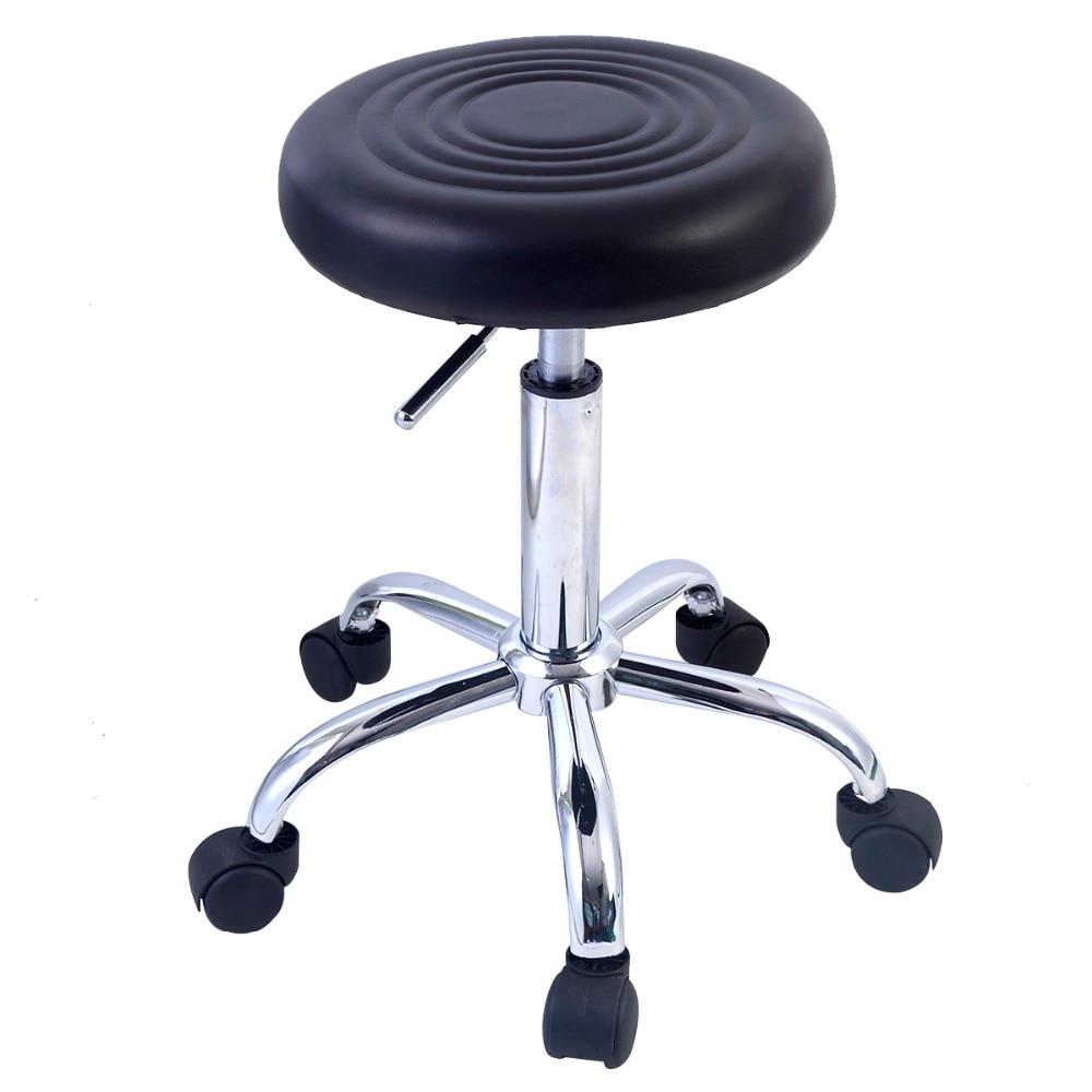 Taburete regulable en altura,giratorio,con ruedas ,negro HW48528BK pu taburete silla de oficina giratorio ajustable plegable ergonomica diseno hw51438