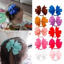 цена на 1Pack Wholesale Hair Accessories Baby Headband Grosgrain Ribbon Hair Bows for Girls Handmade Hair Clip Kids Hair Band Children