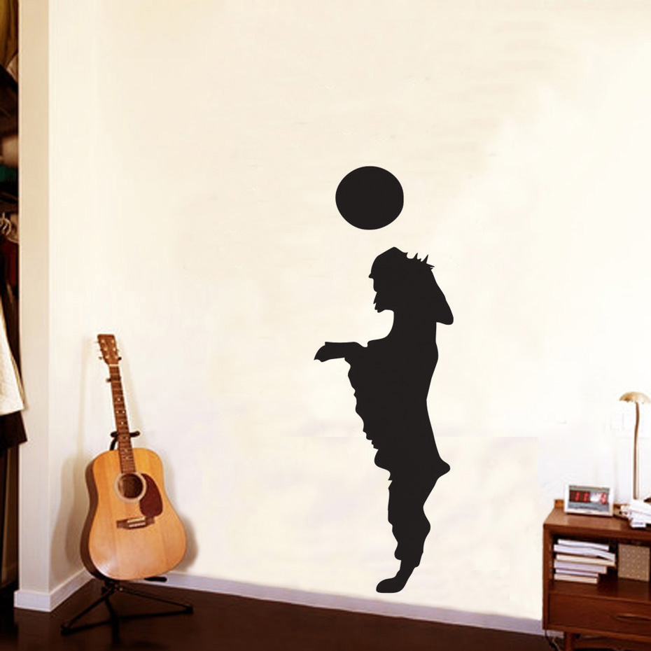 Dog Playing The Ball Vinyl Wall Stickers Pet Shop Art Removable Waterproof Decals Lovely Puppy Kids B Room Home Decor