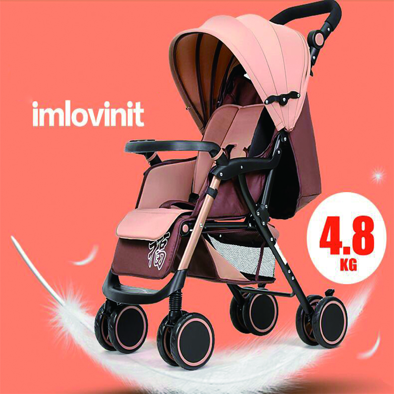 5 Color 2017 New fashion Light portable folding stroller can sit lie four push baby strollers umbrella car stroller car bb hot mummy bike stroller cute baby bicycle prams folding umbrella car can sit can lie trolley red color dhl 3 5 days shipping