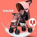 5 Cor 2016 Nova moda Luz portátil dobrável carrinho de criança pode sit lie quatro empurrar carrinhos de bebê guarda-chuva carro carrinho de criança carro bb