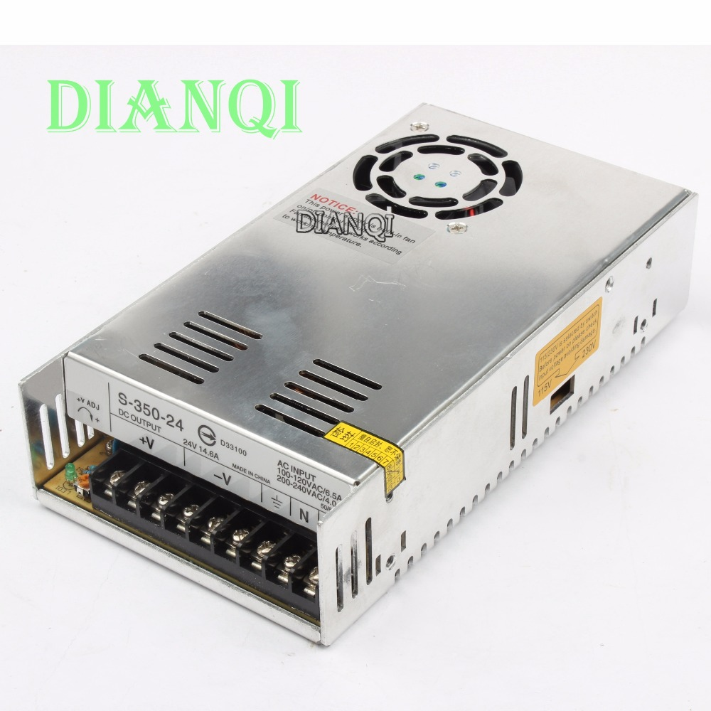 DIANQI High Quality Power Supply 24V 350W 14.6A AC to DC Power Supply AC DC Converter S-350-24 цена