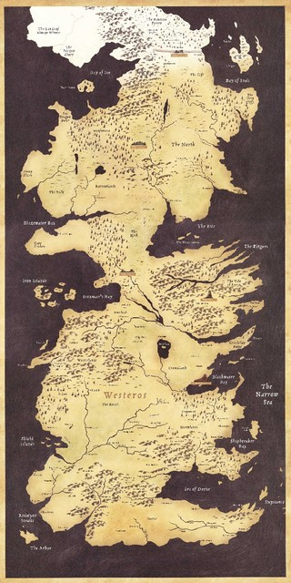 Game of thrones world map westeros and essos tv poster game poster game of thrones world map westeros and essos tv poster game poster high quality fabric silk gumiabroncs