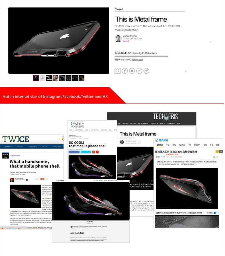 iPhone X 7 8 Plus Luphie Metal Bumper Aluminum Case (3)