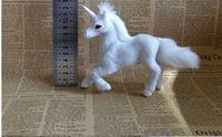simulation unicorn about 11x17cm hard model polyethylene&furs white unicorn prop home decoration gift s2265
