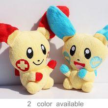 1Pcs Pokemon Minun Plusle Plush Doll Toy Stuffed Dolls 11CM Figure doll Gifts for children Free Shipping