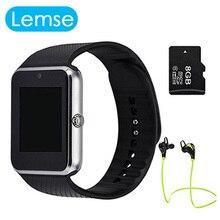 Smart Watch GT08 Bluetooth Wasserdicht Gesundheit Smartwatch Telefon Fitness Uhren Kamera Sim TF karte Uhr mit Headset PK DZ09 GV18