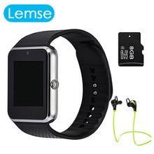 Smart Watch GT08 Bluetooth Waterproof Health Smartwatch Phone Fitness Watches Camera Sim TF card Clock with Headset PK DZ09 GV18