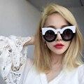 Boutique mais recente moda mulheres rodada cat eye óculos de sol de alta qualidade óculos de armação h1636