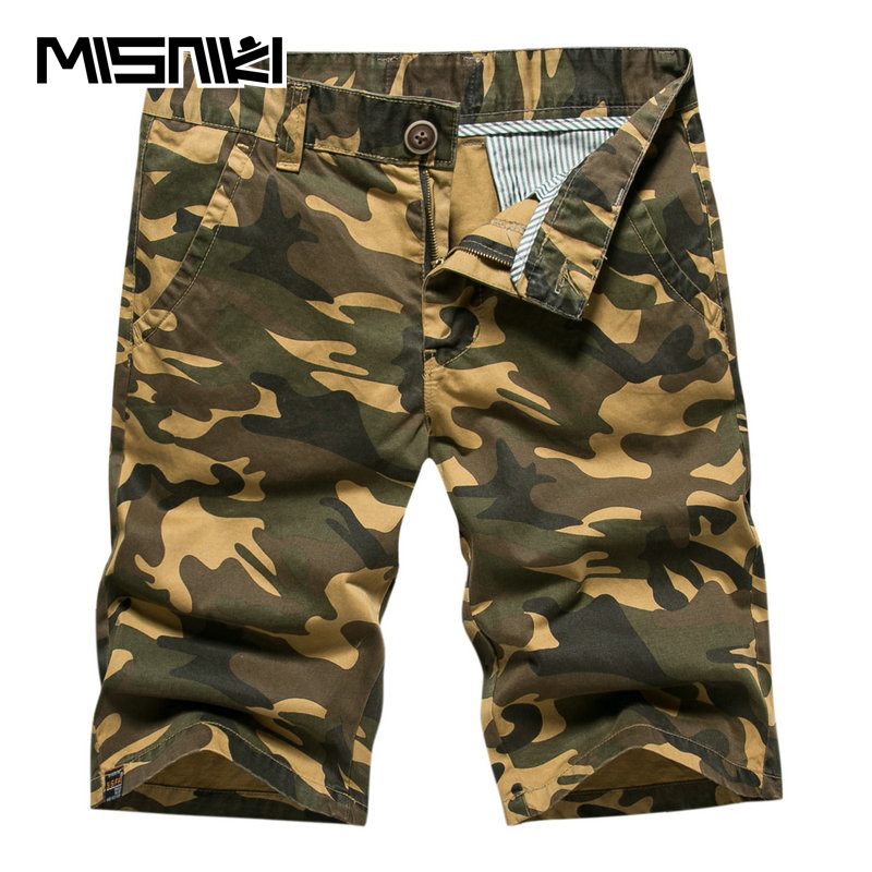 MISNIKI Cotton Casual Mens Cargo Military Shorts Camouflage 2017 Summer Men Short Pants