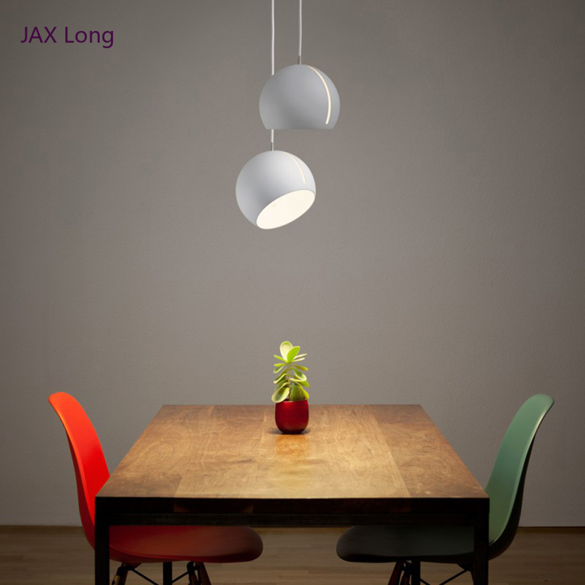 Post-modern Restaurant Art Iron Pendant Lights Lighting LED Hemisphere Pendant Lamp Living Room Cafe Bar Hanging Lamps Luminaire