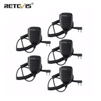 5X PTT Speaker Microphone Walkie Talkie Mic Accessories For Kenwood Retevis H777 RT7 RT22 For Baofeng UV 5R UV 82 for WLN KD C1