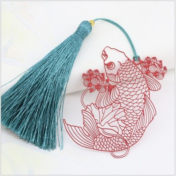 bookmark metal 20PCS bookmarks for books wedding return gifts for kids birthday party red fish and lotus student gift box