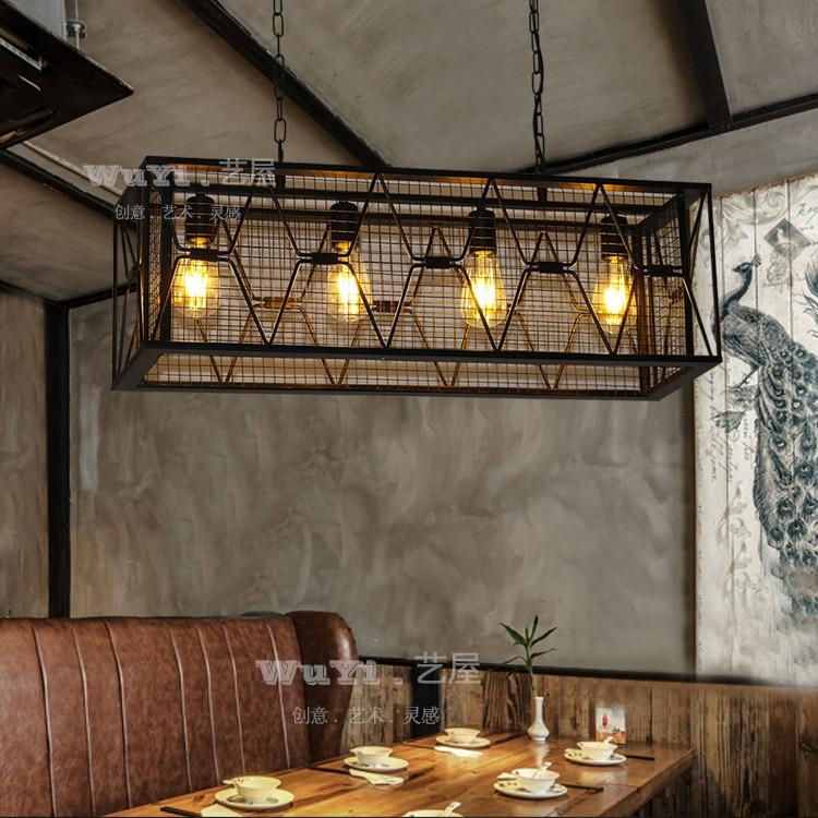 Retro iron art industrial chandeliers bars coffee shops creative personality nostalgic art attic light ya73 GY1 creative personality warm rustic chandeliers birds e14 material iron ac220v