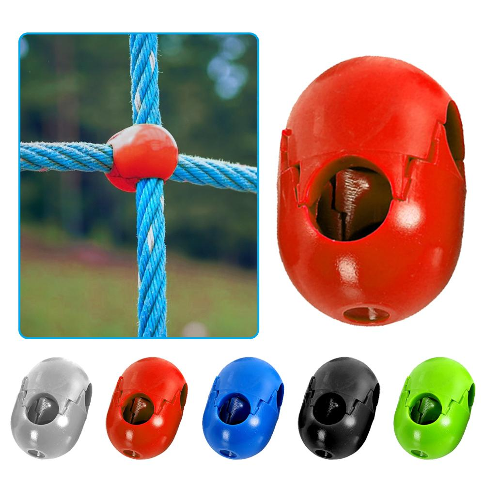 5Pcs Climbing Rope Net Crawling Buckle Plastic Connector Climbing Accessories For Outdoor Amusement Swing Climbing Rope Parts