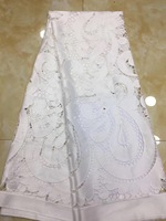 White African Lace Fabric Nigerian Fabric High Quality Embroidery Tulle French Lace African Dresses For Women 2019 DP52