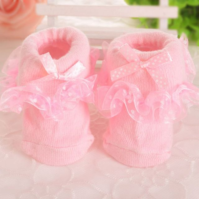 Beauty 0-6 Month Toddlers Infants Cotton Ankle Socks Baby Girls Princess Bowknots Socks