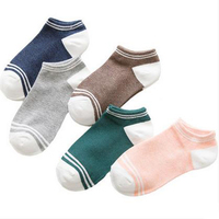 Cotton Boat Socks Silicone Slip Low Suction Breathable Socks Summer Socks 10pairs