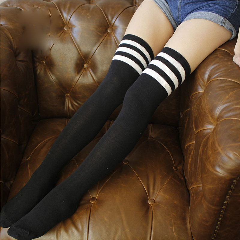 PEONFLY Three long barrel Overknee Full Cotton Woman thigh high knee funny women female hosiery sexy