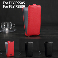 Luxury Lichee Pattern Flip Leather Case For Fly Nimbus 7 FS505 Leather Cover Color Black Red
