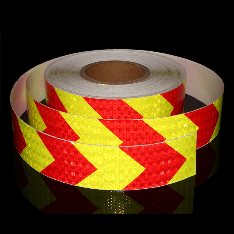Big Arrow Decals Stickers Bicycle Car Styling Reflective Decals And Stickers Honeycomb Reflective Material For Truck Trailer 50M