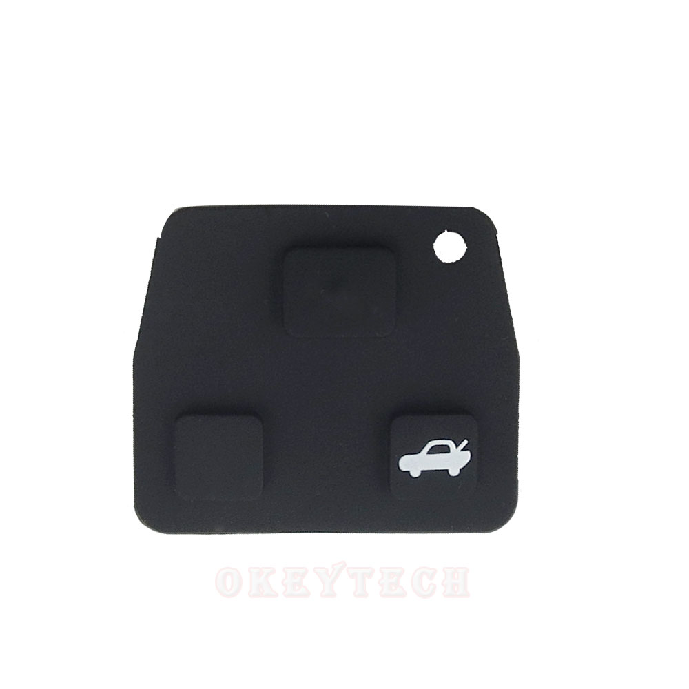 1/шт Замена 3 Кнопка автомобиля дистанционного Оболочки чехол Черный силиконовой резины ремонт площадку для Toyota Avensis Corolla для lexus RAV4