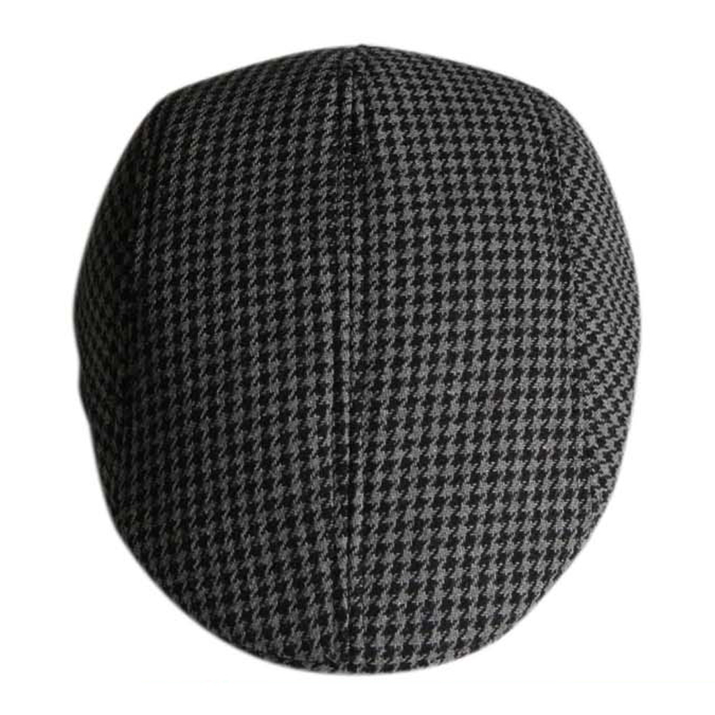 Children Kids Peaked Country Cabbie Golf Hats Cotton Hound Tooth Beret Cap  Newsboy Flat Hat Fashion 3b0bd411d244