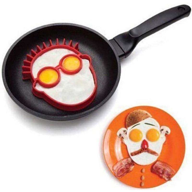1pcs Food Grade Silicone Fried Egg Head Silica Gel Creative Kitchen Silicone Eggs Mould DIY Food Grade Silicone Mold Creative