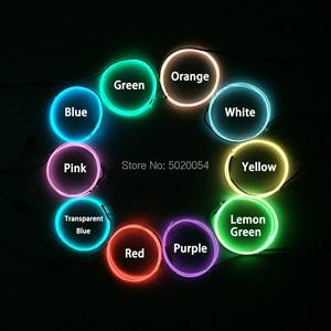 Image 5 - 1.3Mm Neon Led Lamp Autolichten Dance Party Decor Flexibele El Wire Rope Tube Stage Kostuum Licht Met 3V Inverter
