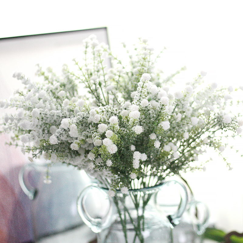 Artificial Gypsophila Baby Breath Fake Silk Babyshopping Blomster Plant til Home Wedding Party Decoration Products