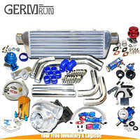 High quality Universal GT35 Turbo Kits For 0.70A/R Ford F150 F250 F350 ntercooler kit+Downpipe Brand NEW
