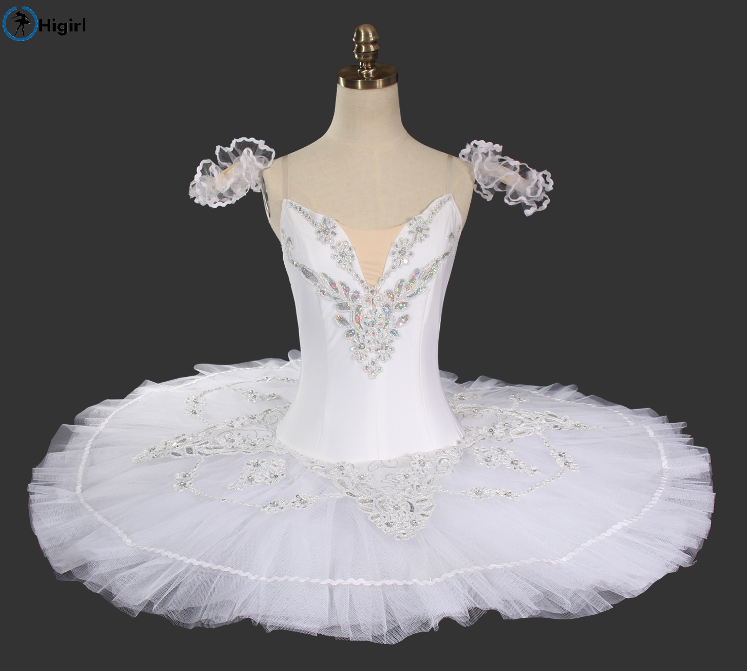 white bird classic ballet tutu sleep beauty professional ballet costumes girls swan lake ballet tutu whites