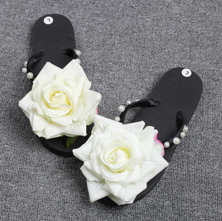 designer flip flops 4qko  HAHA FLEUR Femmes Designers Flip Flops Hot Casual Appartements Thong  Sandales, Fleurs D茅coration Ouvert Pantoufles Chaussures D'