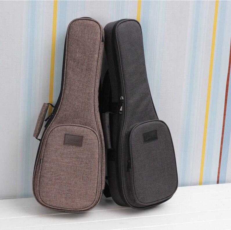 Ukelele bolso funda mochila bolso Thicken Soprano concierto Tenor 21 23 26 pulgadas tamaño Ukelele Mini accesorios de guitarra partes Gig