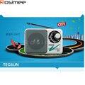 Receptor Digital Tecsun R201T R-201T Bolso Portátil AM FM Rádio De Alta Sensibilidade do Receptor de TV Som 2-5CH Portátil Orador
