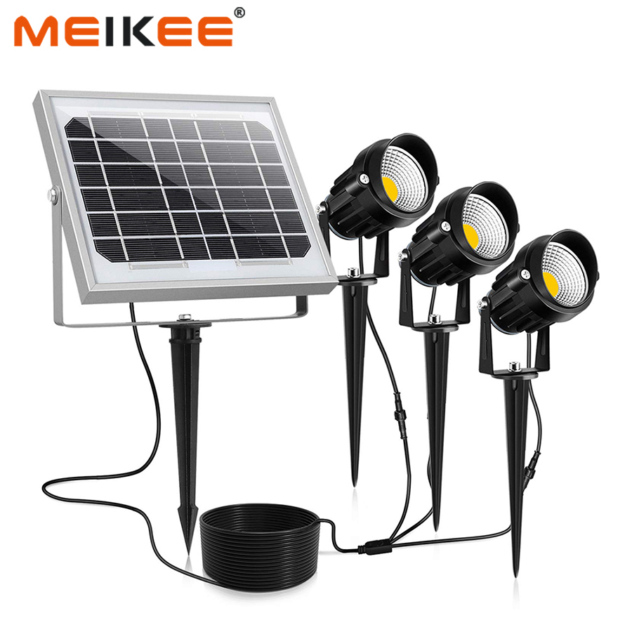 MEIKEE 3 In 1 Outdoor LED Solar Light IP66 Waterproof Solar Powered Lamp Flood Light