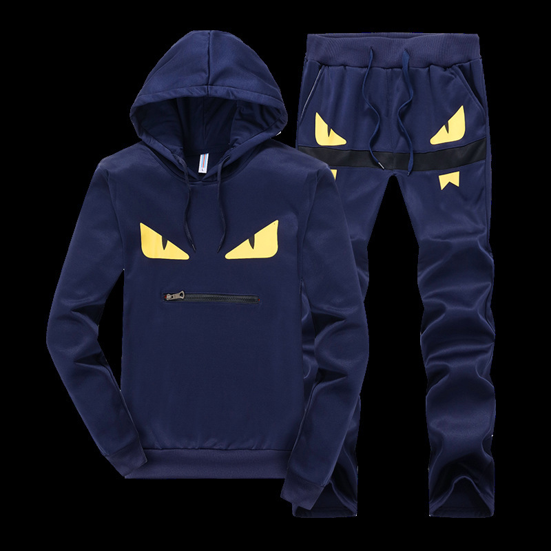 Men s Sportswear Hoodies Sets Sweatshirt Sweat Suit Brand Clothing Men Tracksuits Jogger pullover eye top & pant set Suits