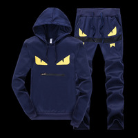 Men s Sportswear Hoodies Sets Sweatshirt Sweat Suit Brand Clothing Men Tracksuits Jogger pullover eye top & pant set Suits