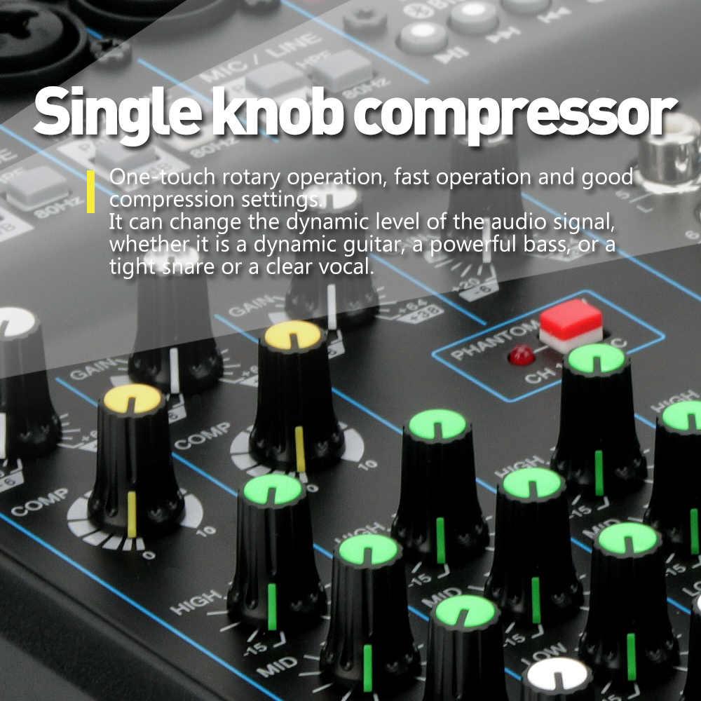 G-MARK Audio Mixer Console Music studio 24-Spx effect Eco Digital output  48V Phantom power 26 National languages MP3 Player Blue