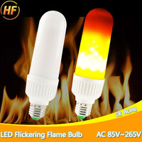 LED Flame Bulbs Fire Corn Light E27 E26 AC85 265V 2835 SMD Energy Saving LED Bulb