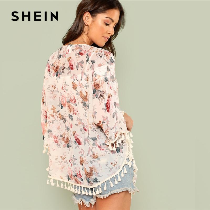 SHEIN Flower Kimono 2018 suvine kimono - 4 suurust 2