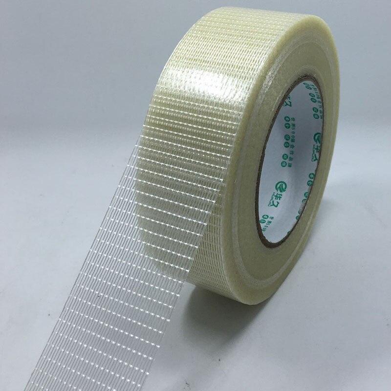1 piezas de la red de fibra de vidrio cinta adhesiva de fuerza de alta viscosa-25 m ancho de la correa/10/15/20 /25/30/35/40/45/50/60/80/100mm juguete módulo