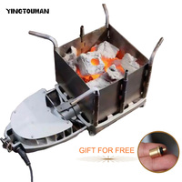 New Arrival BRS 116 Portable Outdoor Camping Picnic Wood Burning Stove Foldable Firewood Furnace Charcoal BBQ